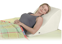 Back Wedge support for elevated reading or support in bed with massage function